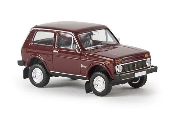 Автомобиль ВАЗ-2121 Нива, темнокрасный