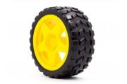 Колесо для роботов 65x26 мм, желтое