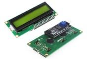 Дисплей Символьный LCD1602 I2C Зеленый