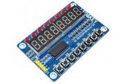 Модуль 8 кнопок 8 светодиодов 8-ми разрядный 7-сегментный индикатор