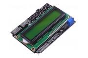 Шилд 1602 LCD дисплей зеленый с кнопками