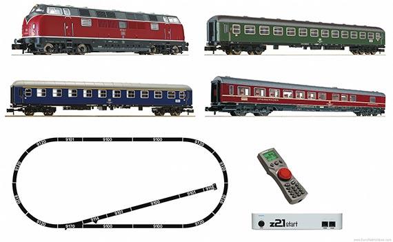 N Тепловоз BR221 с пассажирским составом