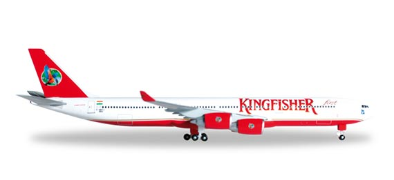 Самолет Airbus A340-500 Kingfisher Airlines