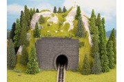 Радиусный туннель однопутный, 25 на 25 см, высота 12 см