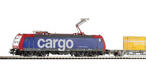 Электровоз BR 185 и грузовой поезд