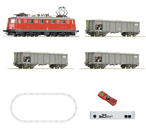Электровоз Ae6/6 с грузовыми вагонами SBB