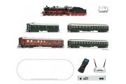 Пассажирский поезд с паровозом BR 18, звук