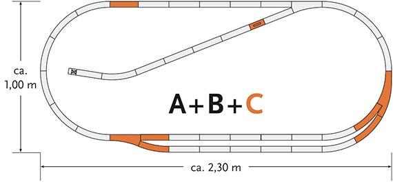 Комплект рельс C